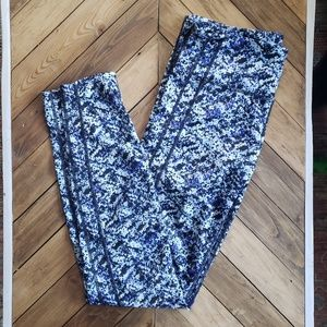 Gap Fit | Blues White Black Crop Athletic Leggings